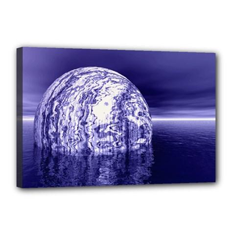 Ball Canvas 18  X 12  (framed)