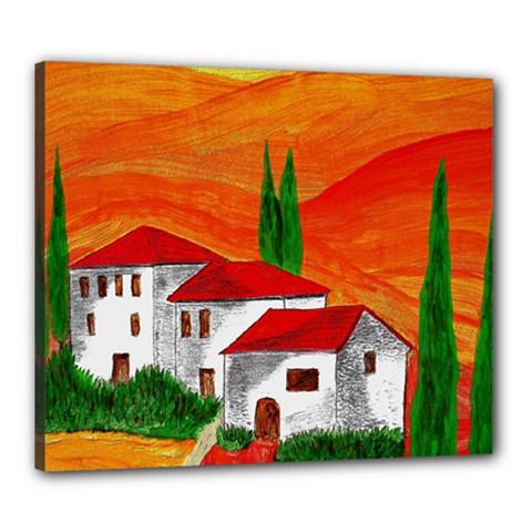Mediteran Canvas 24  x 20  (Framed)