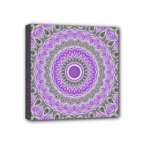 Mandala Mini Canvas 4  x 4  (Framed)