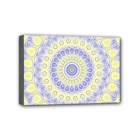 Mandala Mini Canvas 6  x 4  (Framed)