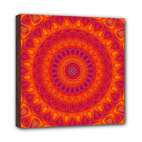 Mandala Mini Canvas 8  x 8  (Framed)