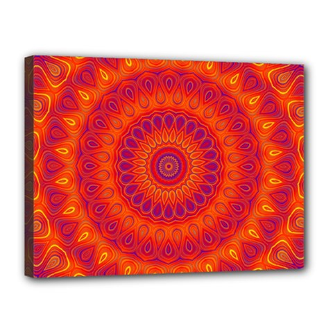 Mandala Canvas 16  x 12  (Framed)