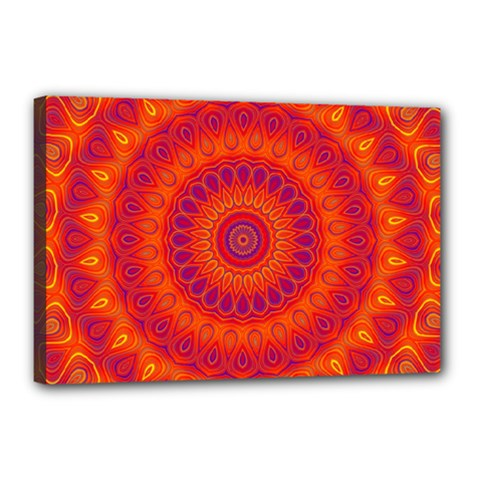 Mandala Canvas 18  x 12  (Framed)