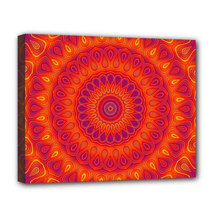Mandala Deluxe Canvas 20  x 16  (Framed)