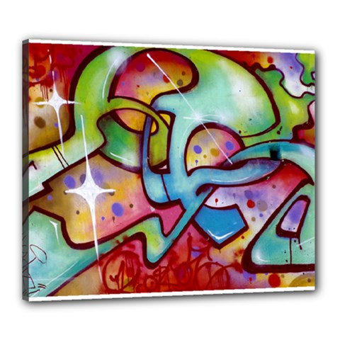 Graffity Canvas 24  X 20  (framed)
