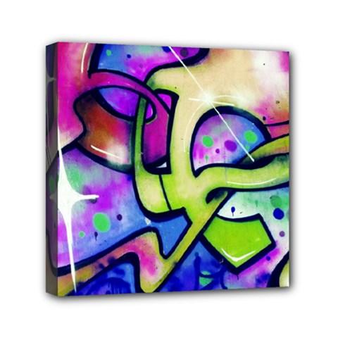 Graffity Mini Canvas 6  X 6  (framed)