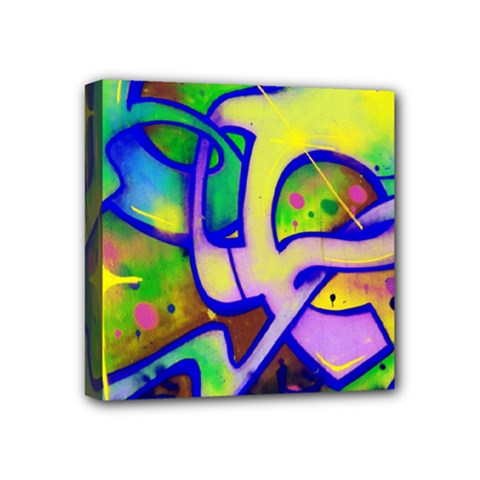 Graffity Mini Canvas 4  x 4  (Framed)