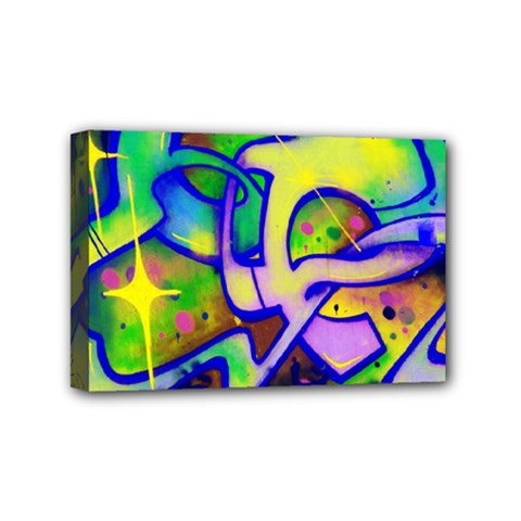 Graffity Mini Canvas 6  x 4  (Framed)