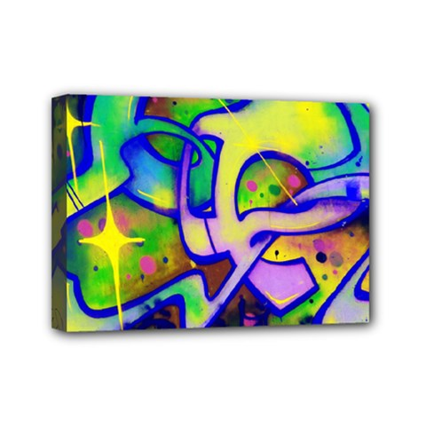 Graffity Mini Canvas 7  X 5  (framed)