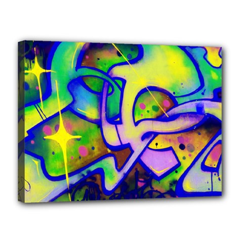Graffity Canvas 16  x 12  (Framed)