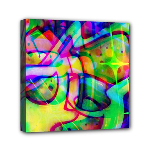 Graffity Mini Canvas 6  x 6  (Framed)