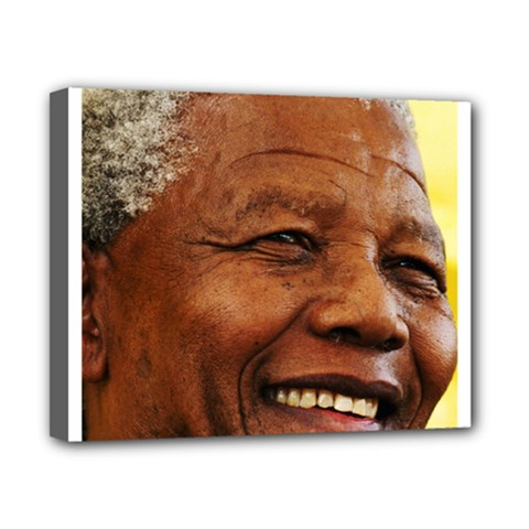 Mandela Canvas 10  X 8  (framed)