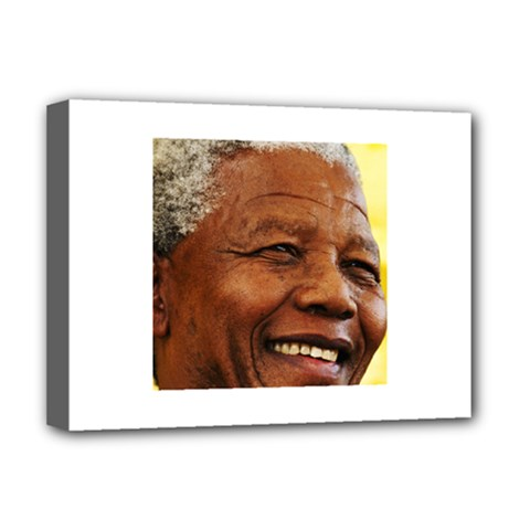 Mandela Deluxe Canvas 16  x 12  (Framed)