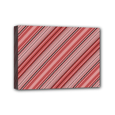 Lines Mini Canvas 7  X 5  (framed)