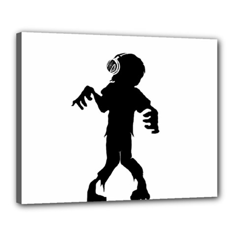 Zombie Boogie Canvas 20  X 16  (framed)