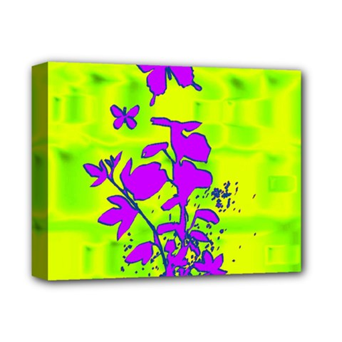 Butterfly Green Deluxe Canvas 14  X 11  (framed)