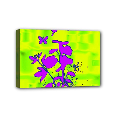 Butterfly Green Mini Canvas 6  x 4  (Framed)