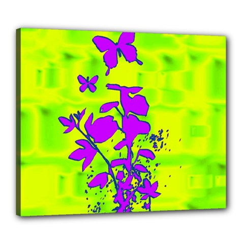 Butterfly Green Canvas 24  x 20  (Framed)