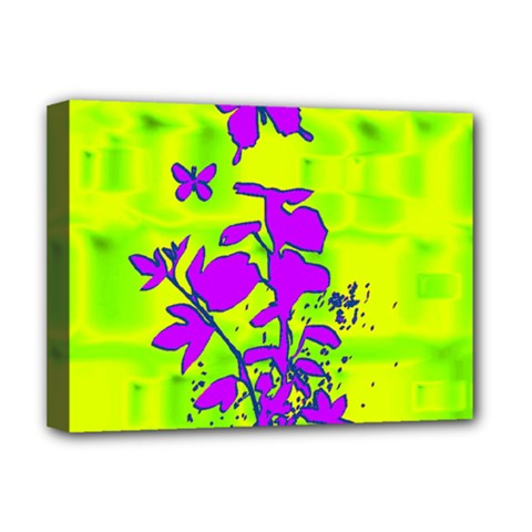 Butterfly Green Deluxe Canvas 16  x 12  (Framed)