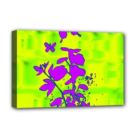 Butterfly Green Deluxe Canvas 18  x 12  (Framed)