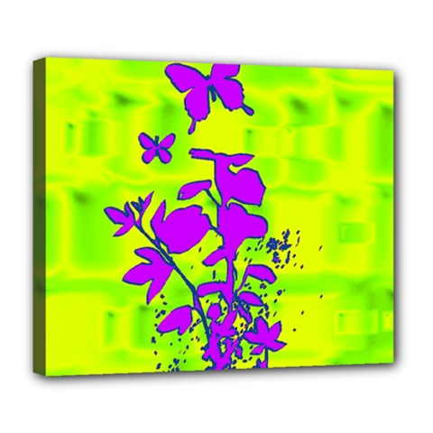 Butterfly Green Deluxe Canvas 24  x 20  (Framed)