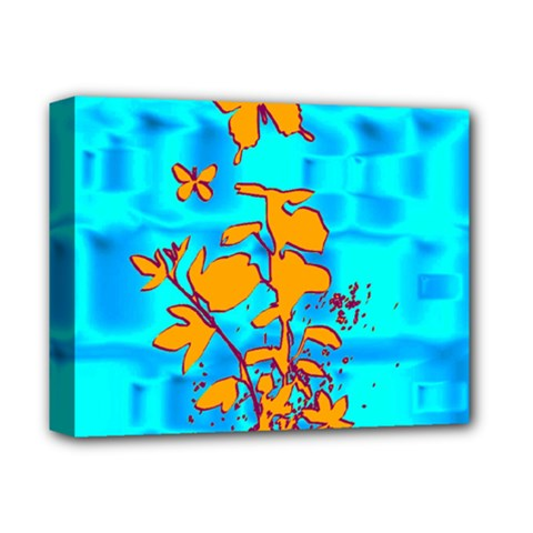 Butterfly Blue Deluxe Canvas 14  x 11  (Framed)