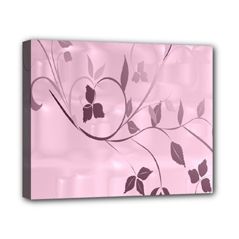 Floral Purple Canvas 10  X 8  (framed)
