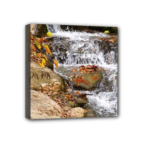 Waterfall Mini Canvas 4  x 4  (Framed)