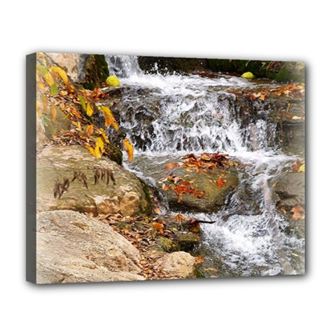 Waterfall Canvas 14  x 11  (Framed)