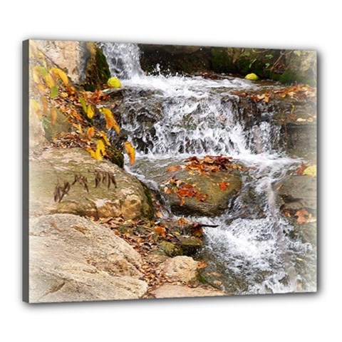 Waterfall Canvas 24  x 20  (Framed)