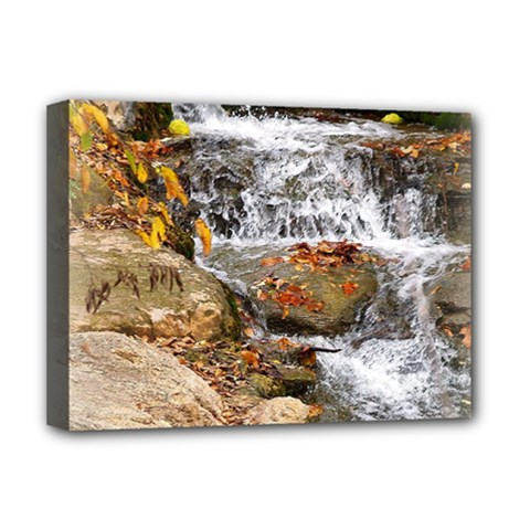 Waterfall Deluxe Canvas 16  X 12  (framed)