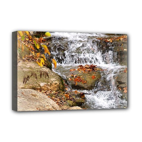 Waterfall Deluxe Canvas 18  x 12  (Framed)