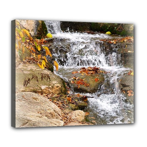 Waterfall Deluxe Canvas 24  X 20  (framed)