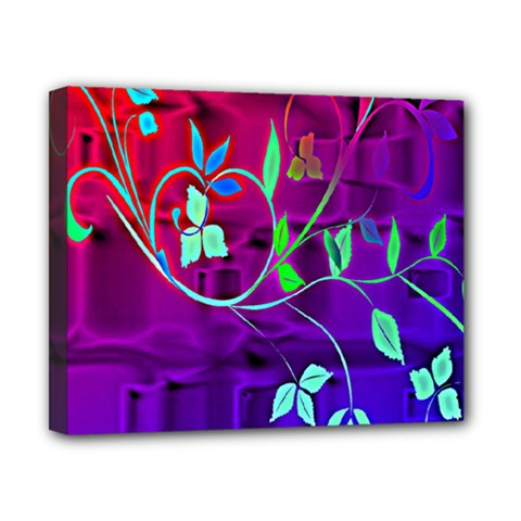 Floral Colorful Canvas 10  x 8  (Framed)
