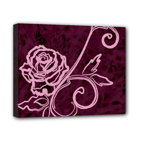 Rose Canvas 10  X 8  (framed)