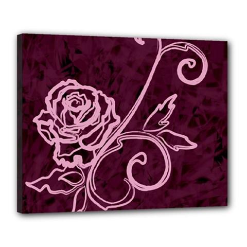 Rose Canvas 20  x 16  (Framed)