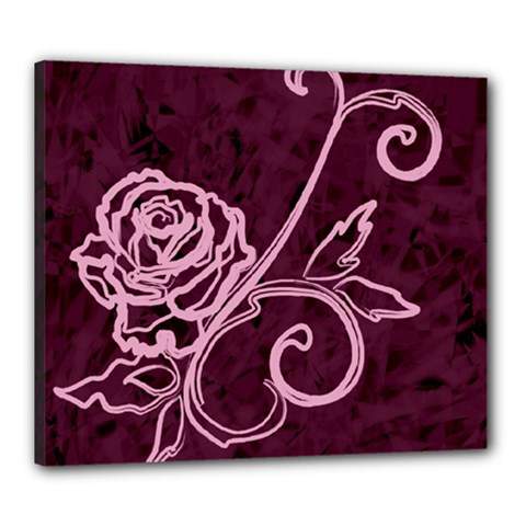 Rose Canvas 24  x 20  (Framed)