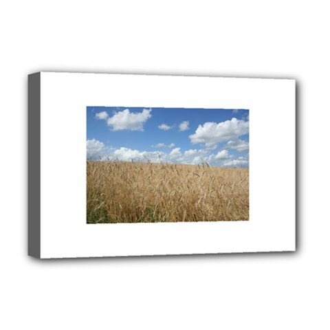 Grain and Sky Deluxe Canvas 18  x 12  (Framed)