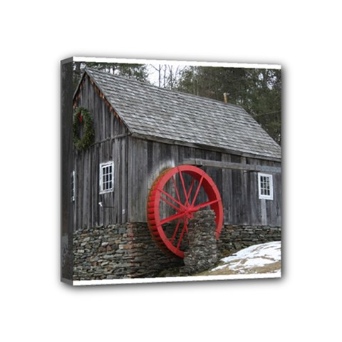 Vermont Christmas Barn Mini Canvas 4  x 4  (Framed)