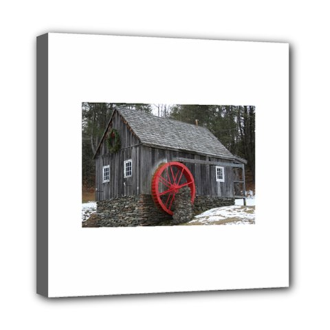 Vermont Christmas Barn Mini Canvas 8  x 8  (Framed)