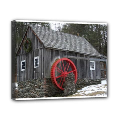 Vermont Christmas Barn Canvas 10  x 8  (Framed)