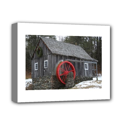 Vermont Christmas Barn Deluxe Canvas 14  X 11  (framed)