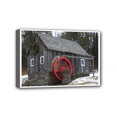 Vermont Christmas Barn Mini Canvas 6  x 4  (Framed)