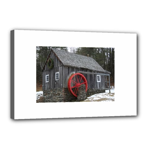 Vermont Christmas Barn Canvas 18  x 12  (Framed)