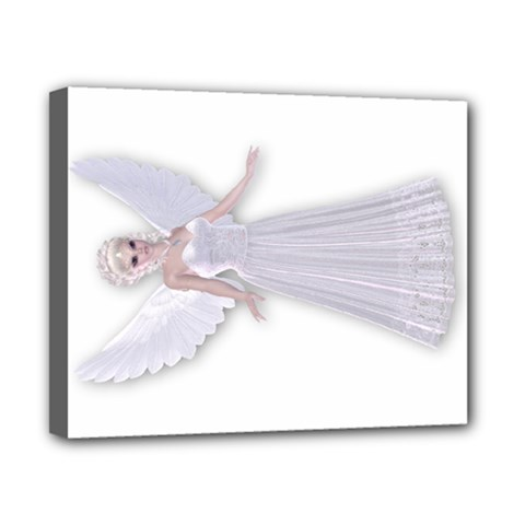 White Faerie Nymph Fairy Canvas 10  X 8  (framed)