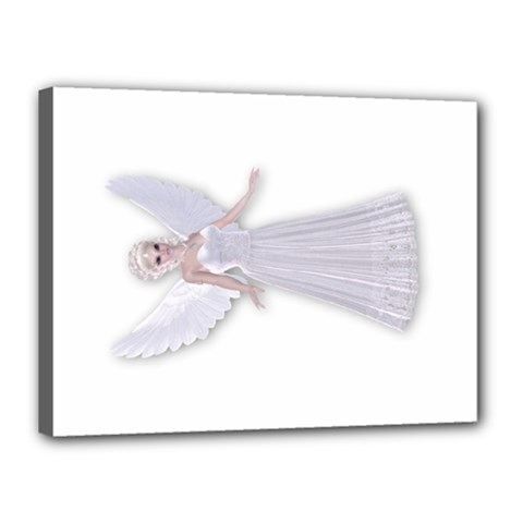 Beautiful fairy nymph faerie fairytale Canvas 16  x 12  (Framed)