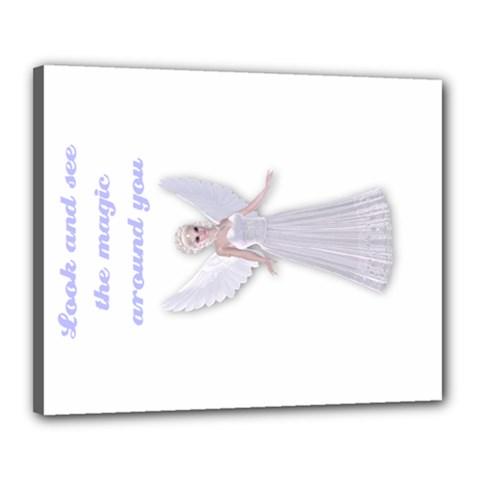fairy magic faerie Canvas 20  x 16  (Framed)