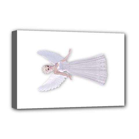 Beautiful fairy nymph faerie fairytale Deluxe Canvas 18  x 12  (Framed)