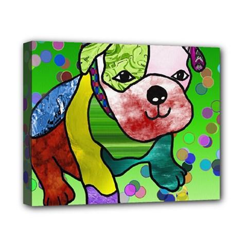 Pug Canvas 10  x 8  (Framed)