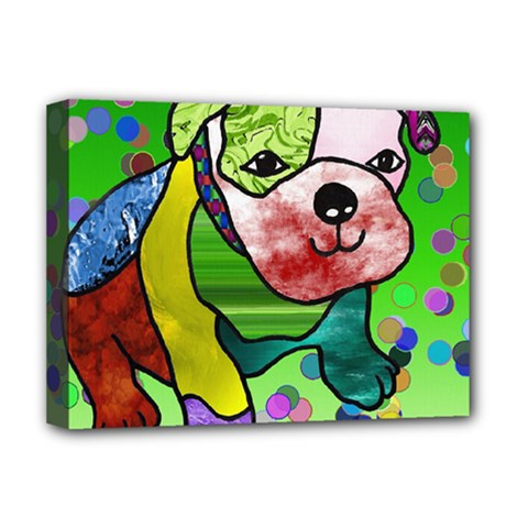 Pug Deluxe Canvas 16  x 12  (Framed)